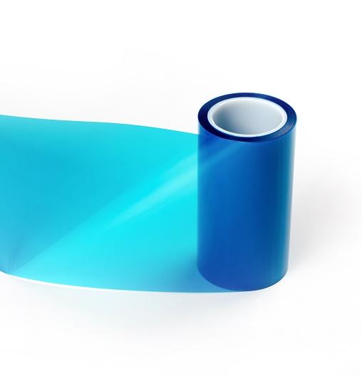 双面离型单面抗静电离型膜|0.075mm双硅单抗蓝色离型膜1-3g
