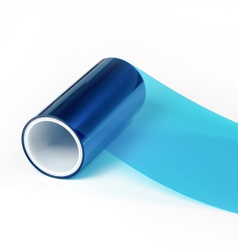 0.05mm双面离型双面防静电蓝色PET超轻离型膜1-3g
